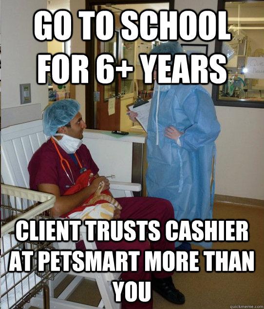 vet vs cashier